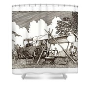 Chuckwagon Cattle Drive Breakfast Shower Curtain