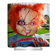 Chuckys Coming Shower Curtain