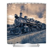 Full Steam Through The Meadow Shower Curtain