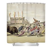 Chulos Playing The Bull, 1865 Shower Curtain