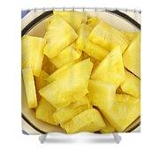 Chunks Of Pineapple Shower Curtain