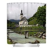 Church - Pfarrkirche St. Sebastian Shower Curtain