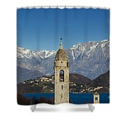 Church And Alps Shower Curtain