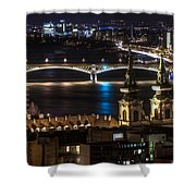 Church And Bridge Shower Curtain