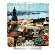 Church And River Shower Curtain