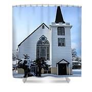 Paramus Nj - Church And Steeplechurch And Steeple Shower Curtain