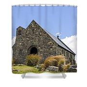 Church At Lake Tekapo Shower Curtain