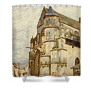 Church At Moret After The Rain Shower Curtain