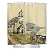 Church At Rejkjavik Iceland 1862 Shower Curtain