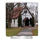 Church At The Lake Shower Curtain