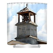 Church Bell Tower In Truchas In New Mexico Shower Curtain