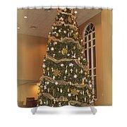 Church Christmas Tree Shower Curtain