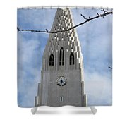 Church Clocktower Shower Curtain
