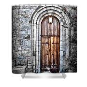 Church Door Killala Ireland Shower Curtain