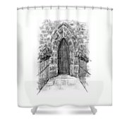 English Church Door Shower Curtain