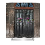 Church Doors And Flowers Shower Curtain