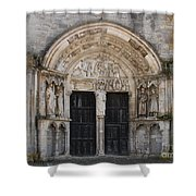 Church Entrance - St  Thibault Shower Curtain