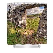 Church Gate Shower Curtain by Adrian Evans