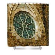 Church Glass Shower Curtain