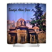 Church In Beautiful Athens Shower Curtain