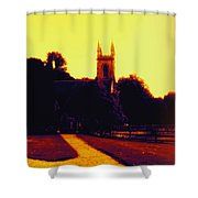 Church In Gold Shower Curtain