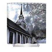 Church In Kuusamo Finland Shower Curtain