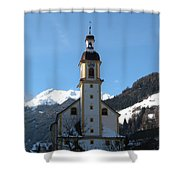Church In The Austrian Alps Shower Curtain
