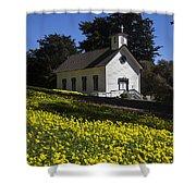 Church In The Clover Shower Curtain