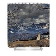 Church In The Hills Shower Curtain