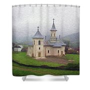 Church In The Mist Shower Curtain by Jeff Kolker