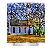 Church In The Wildwood - Paint Shower Curtain