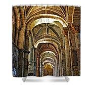 Church Interior Dordogne Region France Shower Curtain