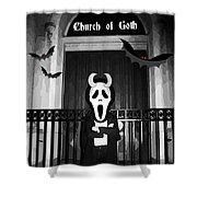 Church Of Goth Shower Curtain