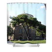 Church Of Hagia Eirene I - First Courtyard Topkapi Palace Shower Curtain