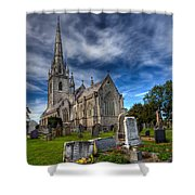 Church Of Marble Shower Curtain
