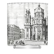 Church Of Notre Dame, Salzburg Shower Curtain