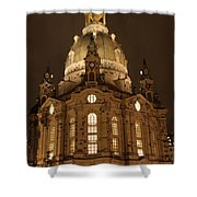 Church Of Our Lady At Night  -  Dresden - Germany Shower Curtain