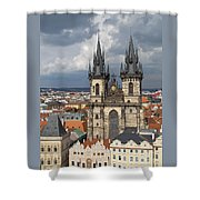 Church Of Our Lady Before Tyn - Prague Shower Curtain