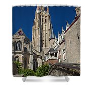 Church Of Our Lady In Bruges Shower Curtain