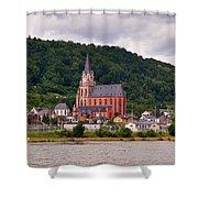 Church Of Our Lady  Oberwesel Am Rhein Shower Curtain