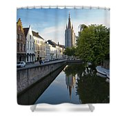 Church Of Our Lady Reflection Shower Curtain