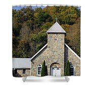 Church Of Rock Shower Curtain