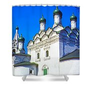 Church Of Simeon Stolpnik Shower Curtain