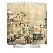 Church Of St Peter And Paul In Krakow Shower Curtain by Stanislawa Kossaka