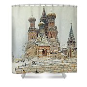 Church Of St. Basil In Moscow Shower Curtain