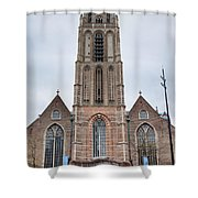 Church Of St Lawrence In Rotterdam Shower Curtain