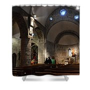 Church Of The Assumption Of Mary In Bossost Shower Curtain