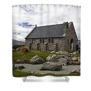 Church Of The Good Shepherd Lake Tekapo New Zealand Shower Curtain