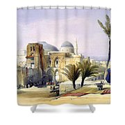 Church Of The Holy Sepulchre In Jerusalem Shower Curtain
