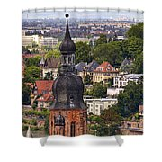 Church Of The Holy Spirit Steeple Shower Curtain